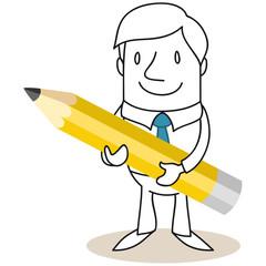Geschäftsmann, Bleistift 2