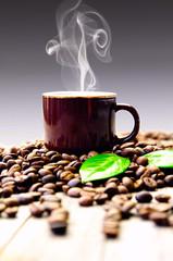 Frisch gebrühter Espresso