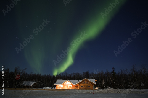 Aurora Borealis in alaskan night