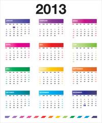 2013 colorful calendar_de