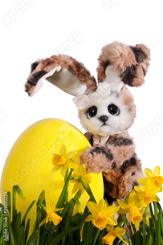 Cute Easter Bunny with easter egg