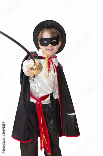 Boy with carnival costume