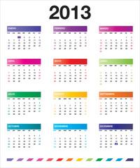 2013 colorful calendar_es