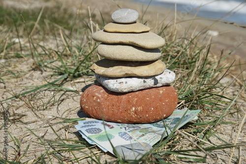 hungarian forints under some pebbles