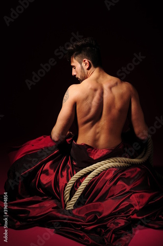 Fototapeta uwertura - szkolenie - Mężczyzna