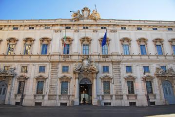 Rome, the Consulta building in Quirinale square.
