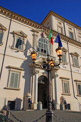 Rome, the Quirinale palace entrance