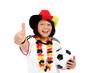 Seniorin als Fußballfan für Deutschland 02