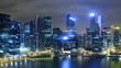 Time Lapse Singapore Skyline at Night.