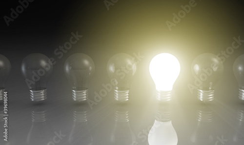 Creativity Concept with Light Bulb