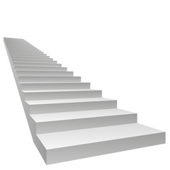 High resolution conceptual 3D stair