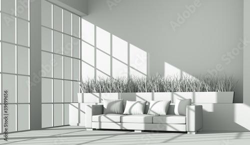 Modell - Sofa vor Fenster