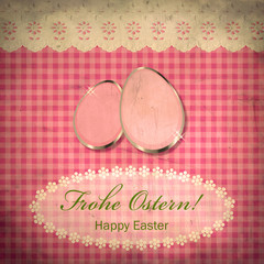 Frohe Ostern Vintage Rosa