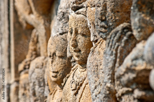 Borobudur faces