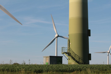 Entrance to a wind turbine