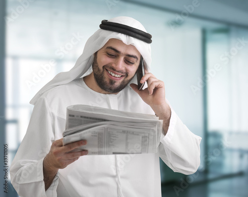arabian business man in office