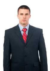 Portrait of handsome serious looking businessman