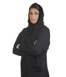 arabian business executive woman wearing hijab posing in office