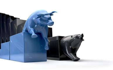 Bull & Bear Econonomic Trends Competing