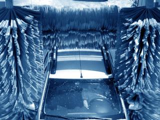 an image of car going through a car wash
