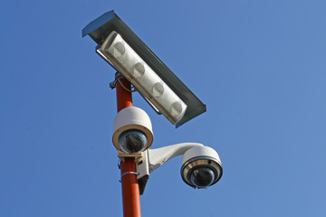surveillance cameras and CCTV at the stadium