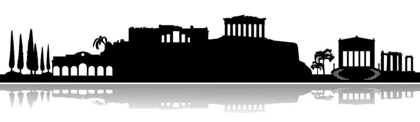 Skyline Athen Akropolis Vektor