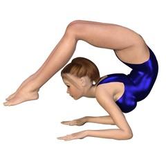 Girl Doing Yoga - Scorpion Pose