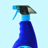 blue spray bottle