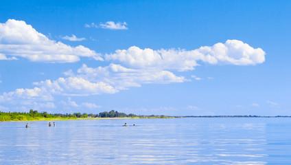 Carefree summer. Chudsky lake,  Russia