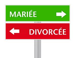 choix - mariage / divorce