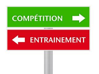 panneau, compétition / entrainement