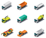 Vector isometric transport. Trucks