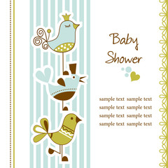 Birds baby shower