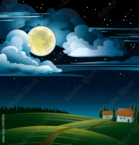 Moon and house
