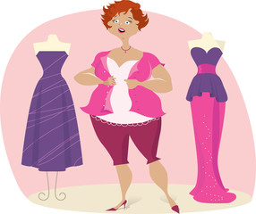 Full lady choosees dress