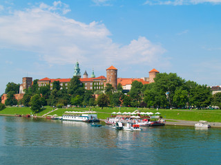 castle at Wawel hill, Krakow, Poland