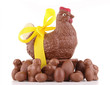 isolated chocolate easter