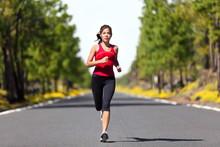 Fitness woman running sport