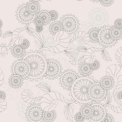 seamless abstract flower background