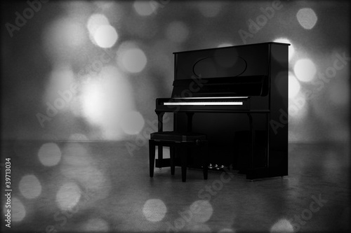 old piano with glare effect