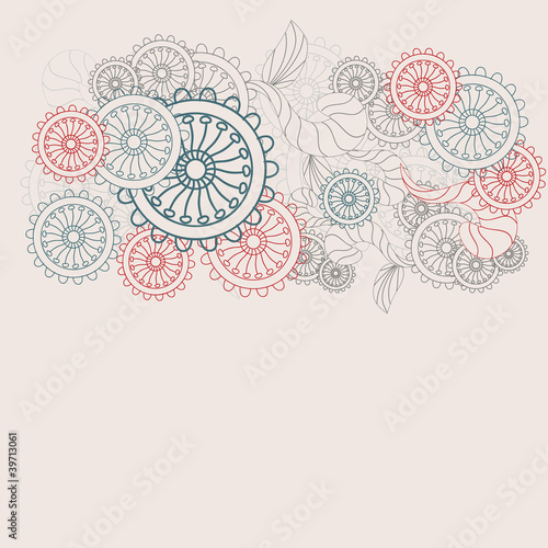 pastel colors flower vector pattern