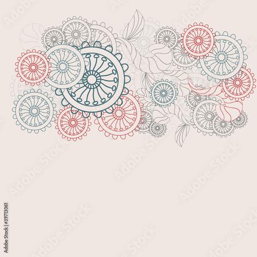 pastel colors flower vector pattern