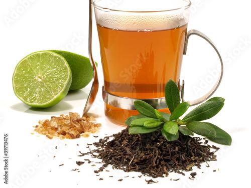 Schwarzer Tee - Limette