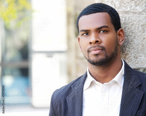 Handsome man outdoors portrait.