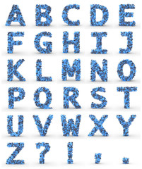 Texteffekt Moleküle blau ABC