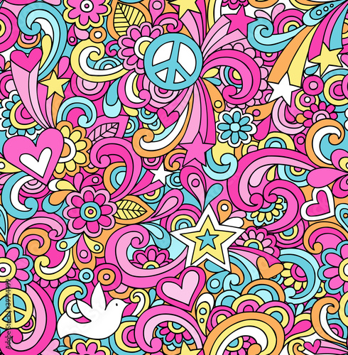 Notebook Doodles Seamless Repeat Pattern Vector