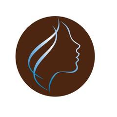 Beautiful woman profile logo