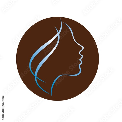 Woman Profile Logo Beautiful Woman Profile Logo