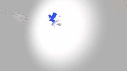 puzzle bleu blanc rouge A