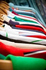 Shirt rack at market